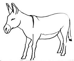 Small Picture Donkey coloring pages