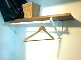shelf bracket with rod holder closet holders hanger