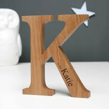 personalised christening oak letter top 50 christening gifts