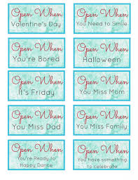 Free Download 19 Open When Letters Printable Search Great Ideas