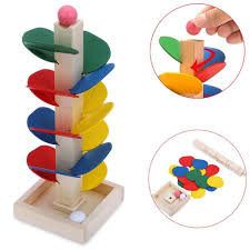educational toy blocks wooden tree marble ball run track by vibola for toys in australia