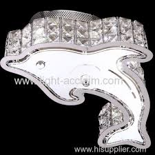 dolphin living room lamp bedroom light cheap led crystal ceiling lights creative crystal lamp ceiling lamp cheap ceiling lighting