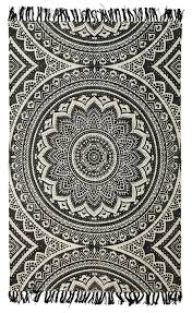 cotton flat weave rug runner