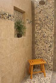 bathroom tile river rock pebbles