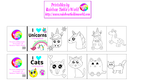 these free miniature cat and unicorn coloring books go perfect with my miniature working crayon tutorial as always if you make them please let me know