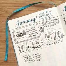 i just love watching my monthly memories page fill up in my bulletjournal each month