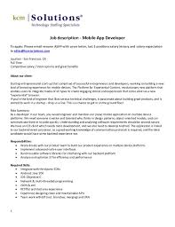 Mobile Application Developer Cover Letter Sarahepps Com