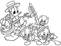 Small Picture coloring pages of duck and ren playing music 2014 Coloring Point