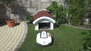 robot lawn mower garage curved roof