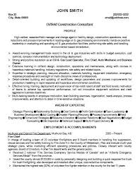 Click Here To Download This Oilfield Construction Consultant Resume