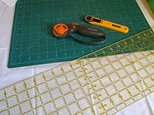 Quilting - Wikipedia & All the tools you'll need for cutting fabric: rotary cutters, rotary mat  and quilting ruler Adamdwight.com