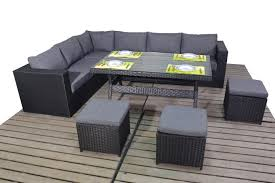 corner sofas with table. Fine Table Prestige Black Rattan Corner Sofa With Dining Table  With Sofas Table