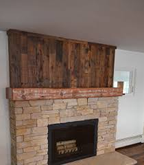 reclaimed timber fireplace mantel