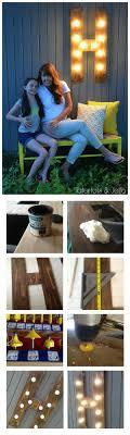 diy outdoor lighting. DIY Outdoor Wood Marquee Letter Diy Lighting