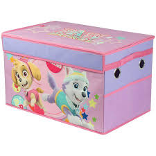 Toy storage trunk Living Room Walmart Paw Patrol Girl Collapsible Toy Storage Trunk Walmartcom