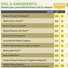 Residential Soils Compost Rexius