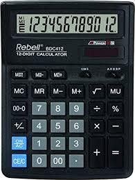 Rebell Re Bdc412 Bx Desktop Calculator Amazon Co Uk Office