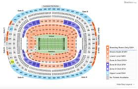 Ny Giants Seating Chart With Rows Metlife Stadium Seating Chart Section Row Seat Number Info