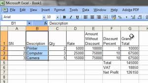 excel bill bill calculation and pie chart in excel solution to shree rams question