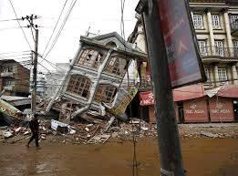Earthquake, hide, scared, startled, surprise. Gifs Show Nepal S Slow Recovery One Year After Earthquakes Huffpost