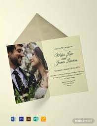 Wedding Invitation Templates With Photo Free Editable Wedding Invitation Template Word Psd