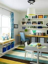 playroom and office. Floating Shelves Provide Extra Storage In This Whimsical Office. More Solutions: Http: Playroom And Office Pinterest