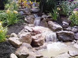Small Picture Best Garden Waterfalls Ideas At Your Yard Using Small Pond And