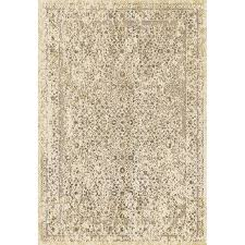 8 x 11 large cream brown gold area rug karelia rc willey furniture