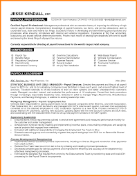 10 Payroll Resume Template Address Example