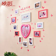 get ations europe shadow 7 solid wood frame wall combination of creative wedding photo frame photo frame shaped