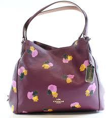 coach new purple plum fl pebble leather e shoulder bag purse e747b 09f80
