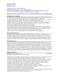 Staffing Recruiter Resume Cbshow Co
