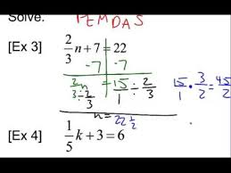 solving two step equations with