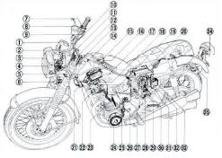honda cbf electrical wiring diagram circuit wiring diagrams honda cb500f electrical wiring and harness schematics
