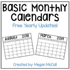 Basic Calendars 2018 2019 Basic Monthly Calendar With Free Yearly Updates Black