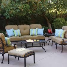 darlee santa monica 7 piece cast aluminum patio conversation seating set