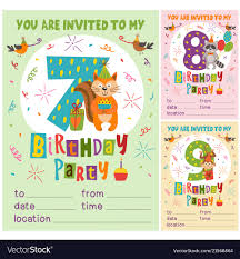 B Day Invitation Cards Birthday Invitation Card Template With Animals