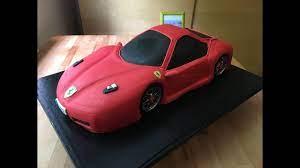 Ferrari Auto Torte Ferrari Car Cake كيكة سيارة فيراري Ferrari Cake Youtube