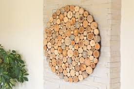 modern wall wood art round wooden wall wooden decor tree