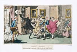 aquatint depiction of a laughing gas party in the nineteenth century recreational inhalation of nitrous oxide