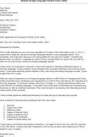 Brilliant Ideas Of Epic Foreign Language Teacher Cover Letter