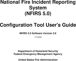 National Fire Incident Reporting System Nfirs 5 0