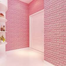 generic new pe foam 3d wall stickers diy wall decor brick pink