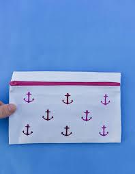 diy no sew pencil case so easy to make with fabric glue
