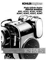 engine manuals kohler engines models k91 k141 k161 k181 k241 k301 k321 and k341 137 pages
