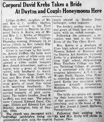 David A Krebs & Lillian Griffith wed - Newspapers.com