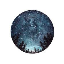 Watercolour Art Print Starry Sky Forest Art by StudioFactotumUK ...