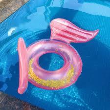 INS HOT Rose Gold <b>Angel Wings Inflatable</b> Swimming Ring <b>Pool</b> ...