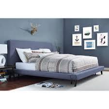 danenixenmod mid century modern platform upholstered bed many