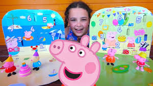peppa pig toy surprise peppa pig birthday countdown and peppa pig s vocation countdown